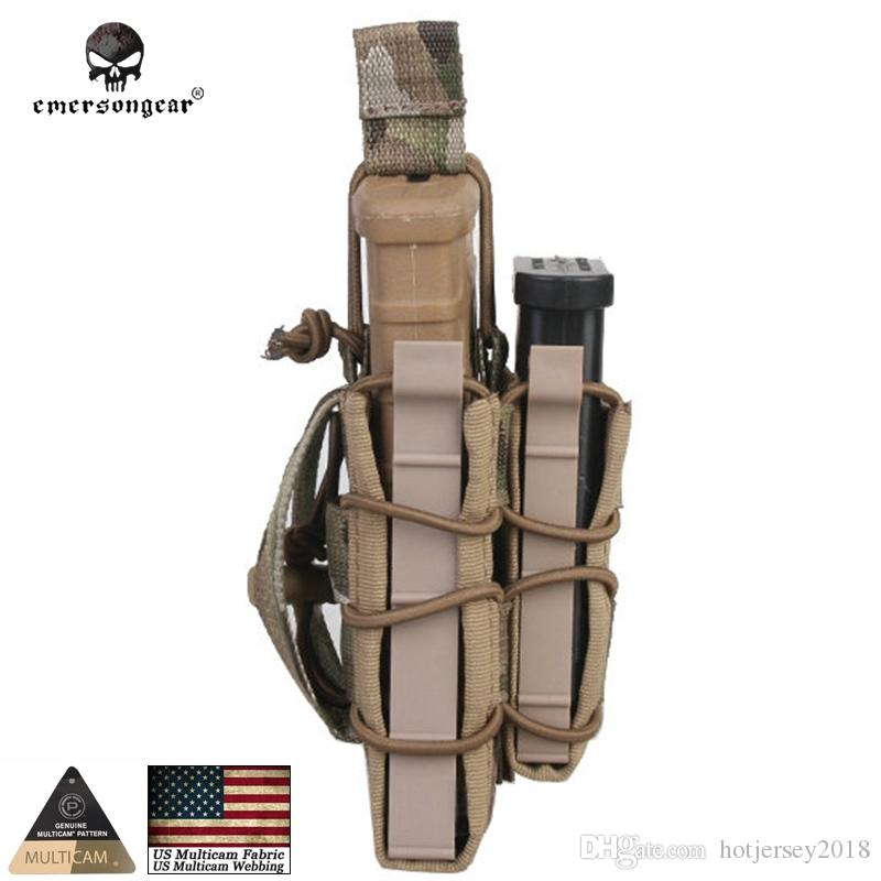 Emersongear Double Magazine Pouches Airsoft Mag Pouch military Emerson Bag MOLLE Camouflage EM6346 magazine holder nylon #109504