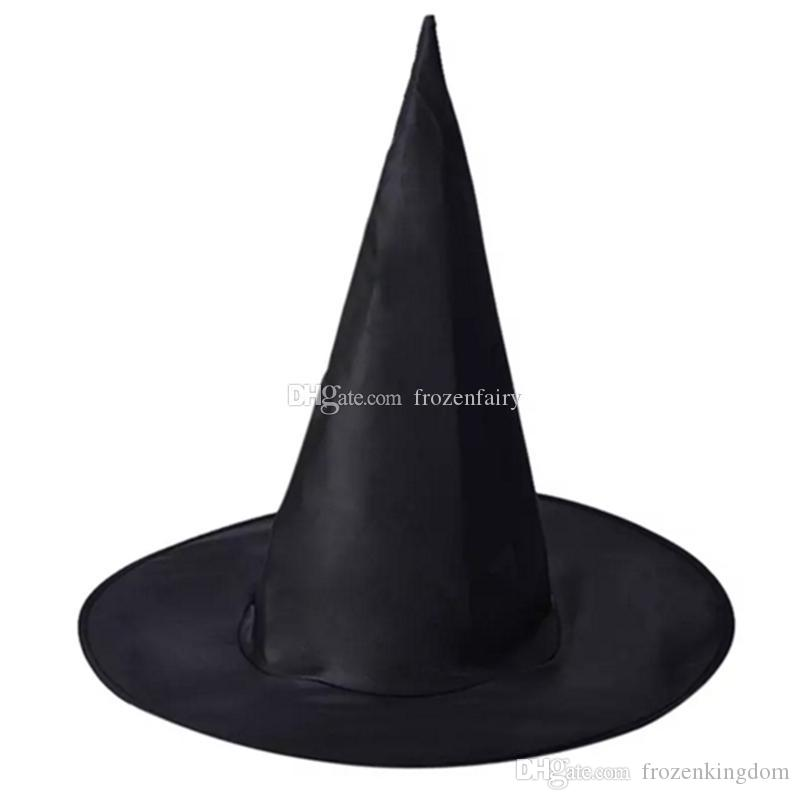a3182014ad4 Adult Women Black Witch Hat For Halloween Costume Accessory Hot Sale ...