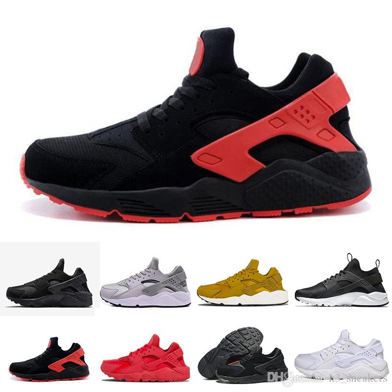 new style 9d199 a3d25 2018 Cheap Air Huarache 1 II Ultra Classical All White And Black Huaraches  Shoes Men Women Sneakers Casual Shoes Size 36 45 Online For Sale Latest  Shoes Top ...