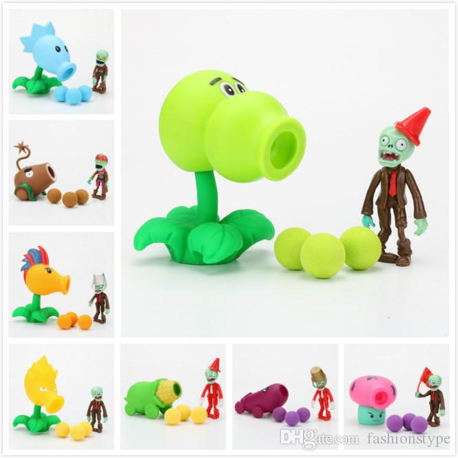 Plants vs Zombies Kids Toys Peashooter PVC Action Figure Model Toy Gifts  Toys For Children High Quality In OPP Bag