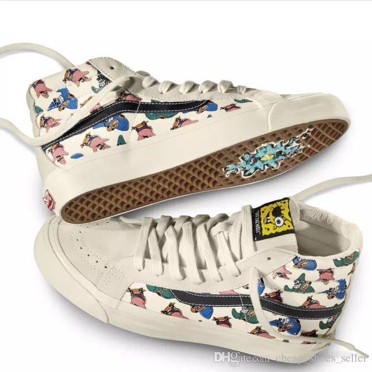 56b5896eb23 Compre 2019 VANS Vault X Amendoim Skool Velho Marca New Autêntico Sk8 Oi  Mens Designer De Esporte Sapatos Para Homens Sapatilhas Das Mulheres Da  Marca ...
