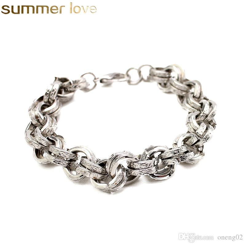 2ca64cd9f72 Hot Sell Silver Link Chain Charm Bracelet Classic Style DIY Wholesale  Fashion Jewelry Bangle Gift For Women Womens Charm Bracelets Mens Bracelets  From ...