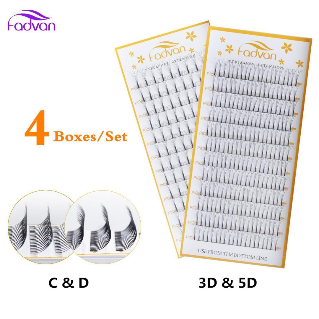 d7f53b6767d 4 CaseIndividual Cluster Lashes Wide Fans Premade Russian Volume 3D 5D Pre  Fanned Eyelash Extensions Fans Lashes FADVAN Party Lashes Semi Permanent  Eyelash ...
