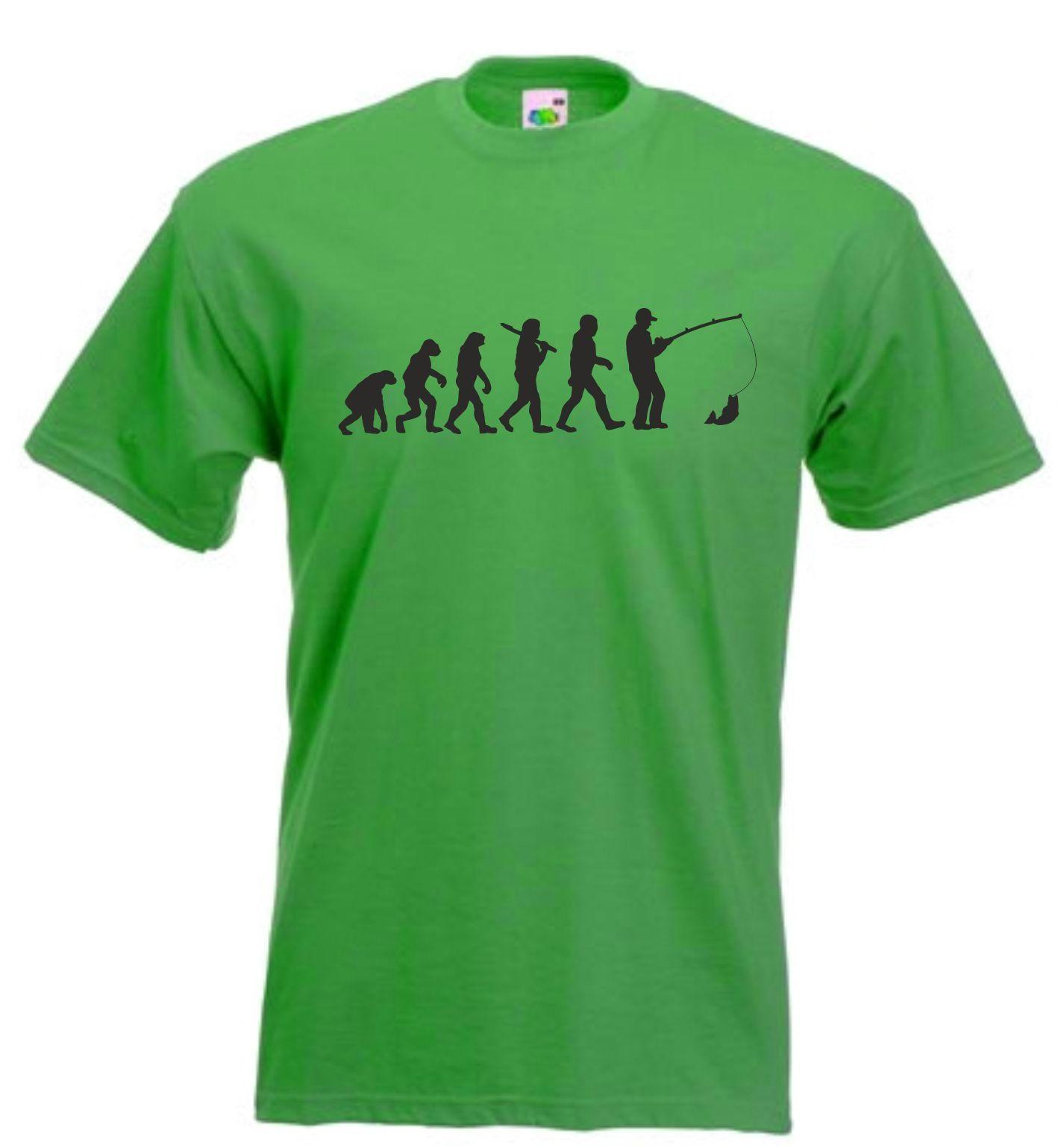b0d4148cd839 EVOLUTION OF FISHING T SHIRT FISHERMAN TSHIRT ANGLING CARP T SHIRT SIZES S  XXL Funny Tshirt And Shirt Shirts Cool From Young ten