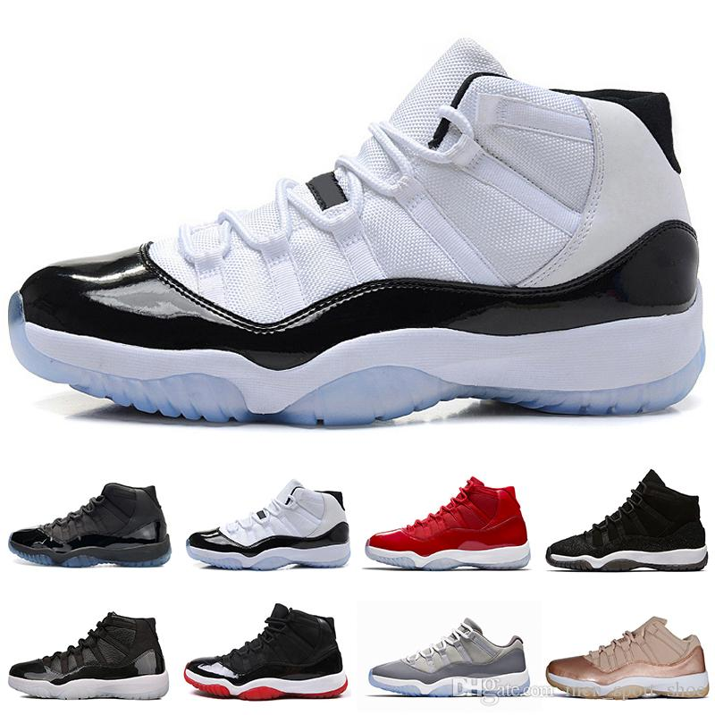 9a18fd15d06 2019 New 11 11s Cap And Gown Prom Night Mens Basketball Shoes Midnight Navy  Gym Red Bred PRM Heiress Barons Men Sports Sneakers Trainers Designer From  ...