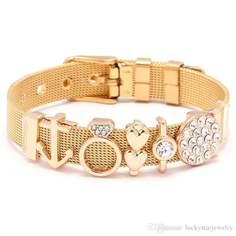 316l stainless steel wristband bracelet gift jewelry ,charms keeper bracelet love bracelet gold silver rose gold available