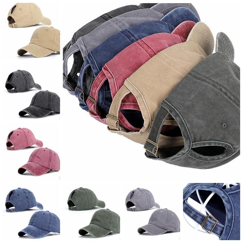 Unisex Classic Washed Baseball Cap Adjustable Ponytail Baseball Cap Ladies  Snapback Travel Sun Hair Hole Hats KKA6576 Baseball Caps For Women Caps Hats  From ... 5cdd582d115