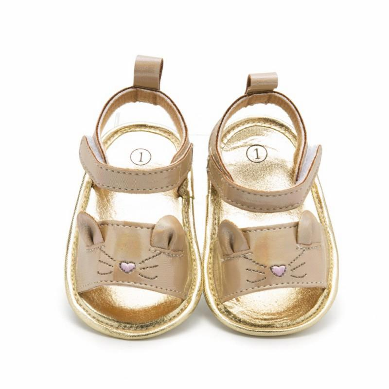 Baby Girl Sandals Baby shoes Summer Cute Cat Soft Soled Golden Princess shoes Fashion Infant Girl Sandals New