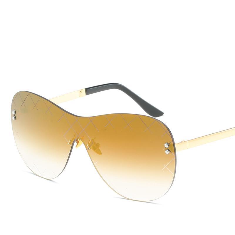 6967e7d50b 2019 Fashion Rimless Sunglasses Men Women Luxury Brand Glasses Classic Oval  Retro Glasses Good Quality UV Protection Gradient Sunglasses Glasses For Men  ...
