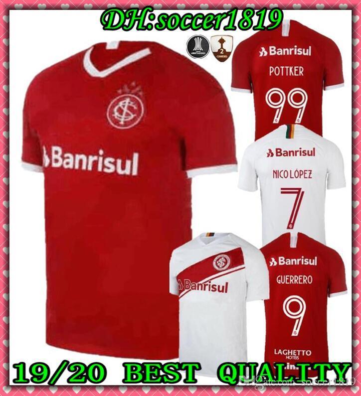 19 20 Brazil CLUB sport Internacional home soccer Jersey red Brazil  Football Shirt 19 20 Damiao Silva D Alessandro soccer shirt