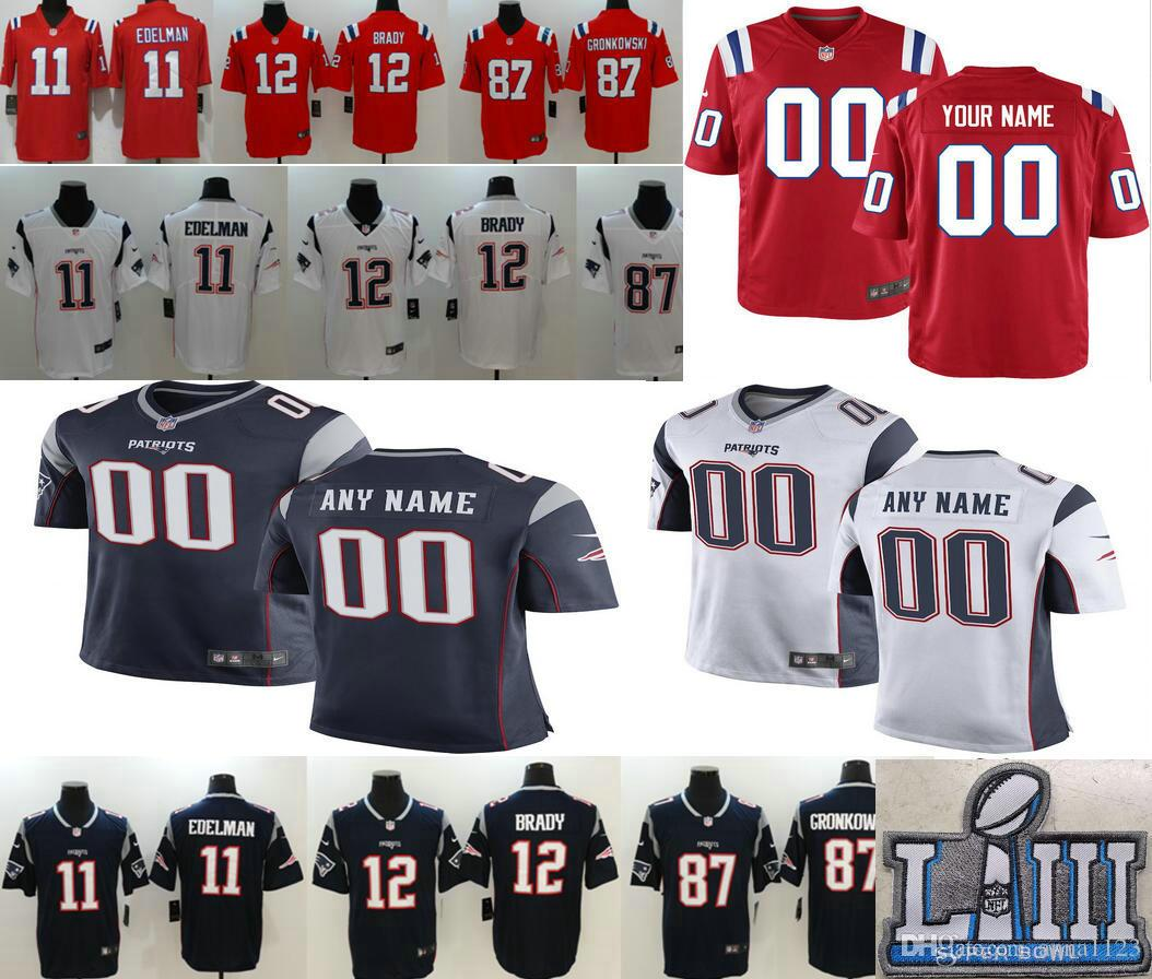2019 Super Bowl LIII New Custom Men Women Kids Youth Patriots  12 ... 67fb368f0
