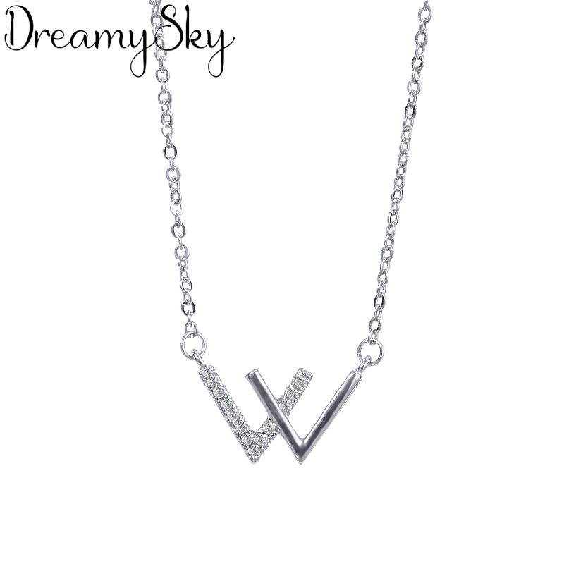 Wholesale DreamySky Bohemia 925 Sterling Silver Letter Necklaces Pendants  For Women Ladies Long Chain Statement Necklaces Wedding Jewelry Gold  Necklaces Cat ... 42a754710