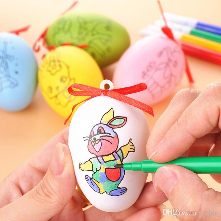 Easter children's toys handmade diy painted Easter eggs painting color simulation eggs children's educational doodle toys Report