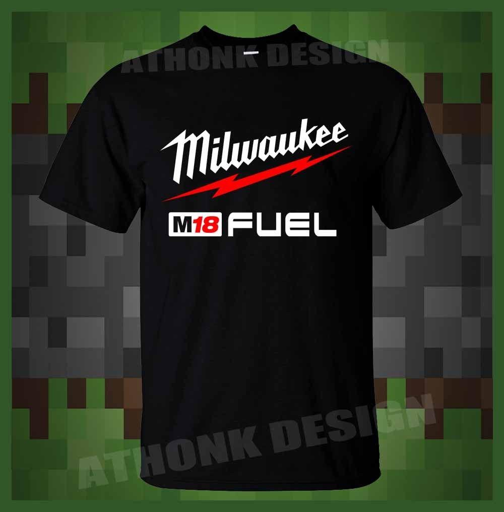 Milwaukee M18 Fuel Power Tools T Shirt Print Short Sleeve Men Top