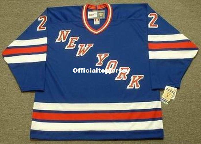 new concept f9f76 851ed custom Mens NICK FOTIU New York Rangers 1982 CCM Vintage Away Cheap Retro  Hockey Jersey