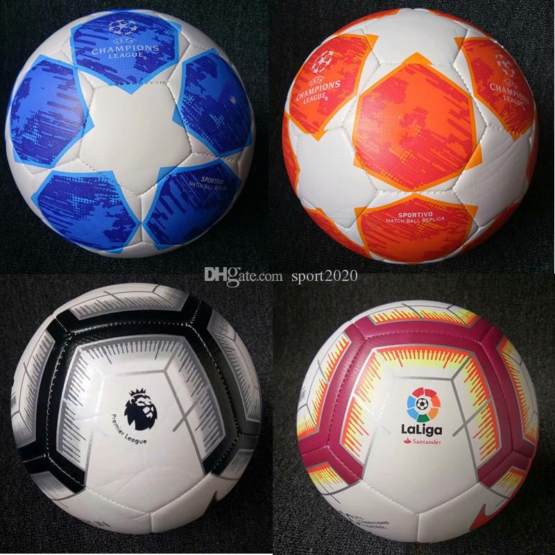 5fb1e2b04e6f2 2018-2019 Bolas da Copa do Mundo da UEFA Champions League 5 Futebol Bolas  de futebol de primeira qualidade Bom Jogo Liga Premer (Enviar as bolas sem  ar)