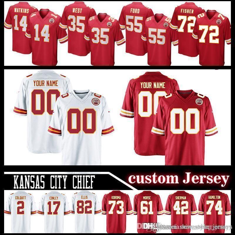 newest collection abb8d 2004a City Chief custom Kansas jerseys 19 Joe Montana jersey 58 Derrick Thomas 55  Dee Ford 35 Christian Okoye 76 Laurent Duvernay-Tardif Chris J