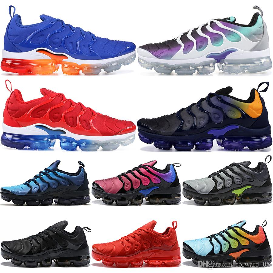 pretty nice 1f5c1 322f2 Scarpe Da Calcio Bambini TN Plus Scarpe Da Corsa Uomo Donna Gioco Royal  Grape Photo Blus USA Luminoso Crimson Designer Triple Bianco Nero Trainer  Sport ...
