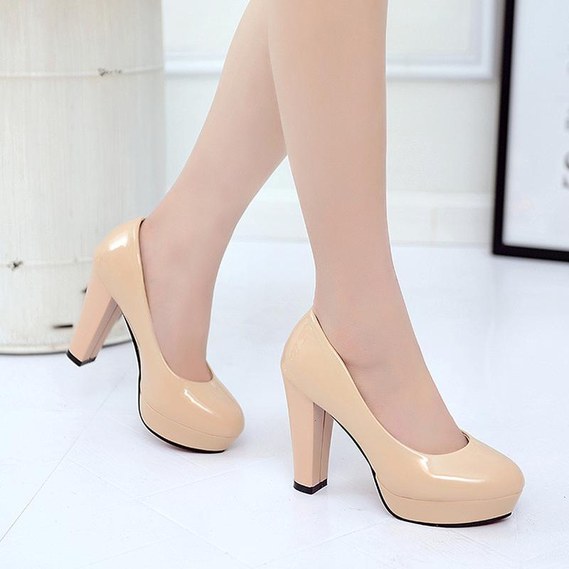 fec6ea28ce0 2018 Women S Shoes Classic Pumps Ladies Party Dress Wedding High Heels Slip  On Woman Elegant Sexy Plus Size Basic Shine Leather Mens Sneakers High  Heels ...