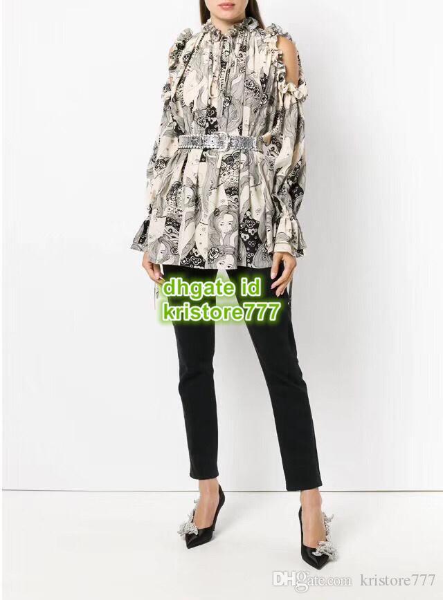 d7885a14534fd4 2018 Hot Sale Women Silk Shirt High End Custom Long Sleeve Shirt Paris  Fashion Week Letter Blouse Ladies From Kristore777
