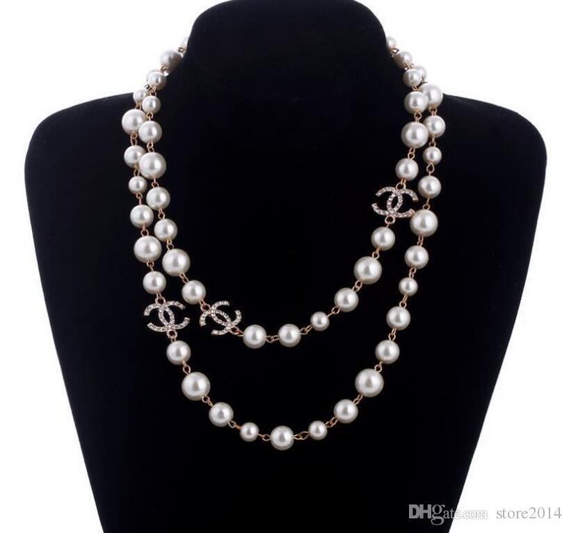 b20a525b529e Compre Nuevo Collar De Cadena Suéter Largo Collar Maxi Collar De Flores De  Perla Simulada Joyería De Moda De Mujer Bijoux Femme Regalos De Navidad A   7.04 ...