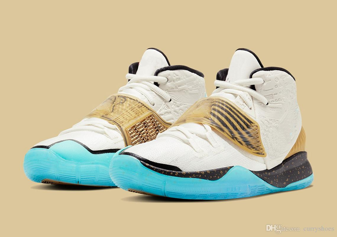 Hot Kyrie 6 Golden Mummy kids sales best Irving 6 Khepri men women Basketball shoes store US4 US12