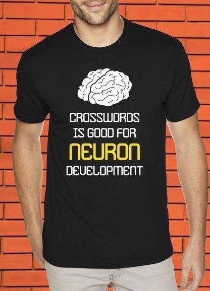 comprare on line 3c01d 8a69a Cruciverba Buono per Neuron Maglietta timore cosplay liverpoott maglietta  mens orgoglio t-shirt bianca nero grigio rosso pantaloni tshirt