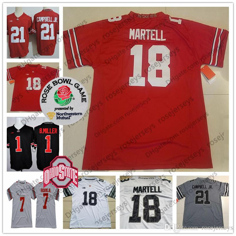 2019 Ohio State Buckeyes  18 Tate Martell 83 Terry McLaurin 14 KJ Hill 21  Parris Campbell Jr. White Red Black Camo Rose Bowl Jerseys From  Rosejerseys 3ae2536f0