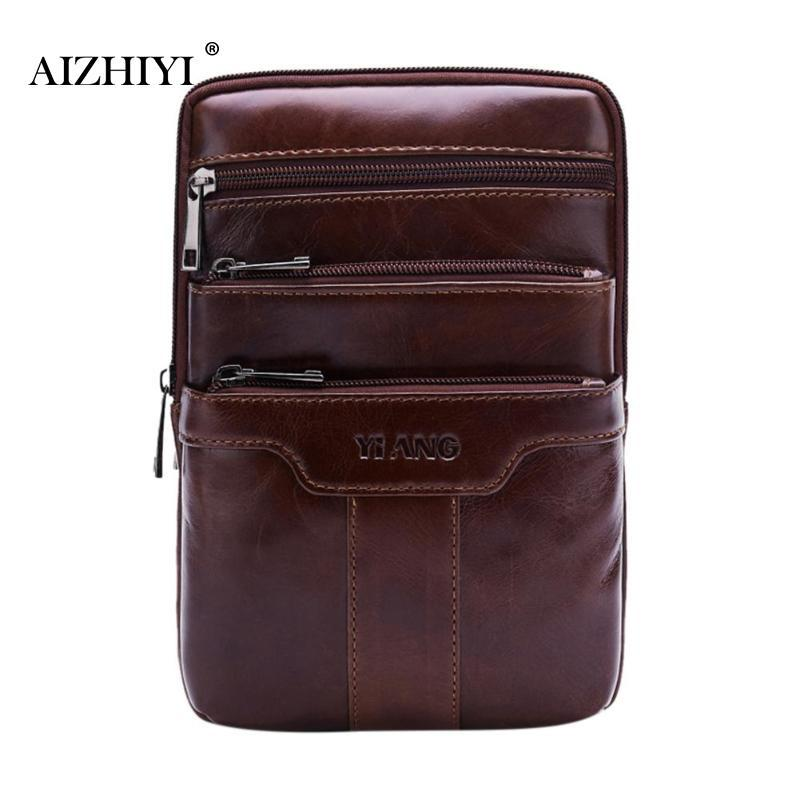e47a5fb43365 Casual Men Soft Leather Chest Bags Male Solid Shoulder Bag Travel ...
