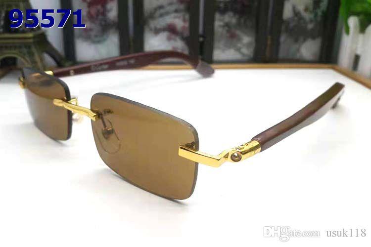 6b4ee57f2f Compre 2019 Nueva Marca Para Hombre Gafas De Sol Lente Ojo Gafas Marco De  Oro Marco De Metal Cuadrado Estilo Vintage Diseño Exterior Modelo Clásico A  $13.2 ...