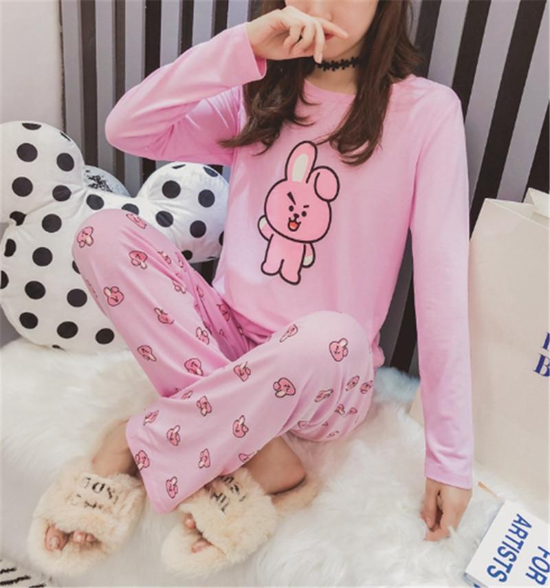 купить оптом Kpop Bts Bt21 Koya Cooky Bedgown пижамы брюки пижамы