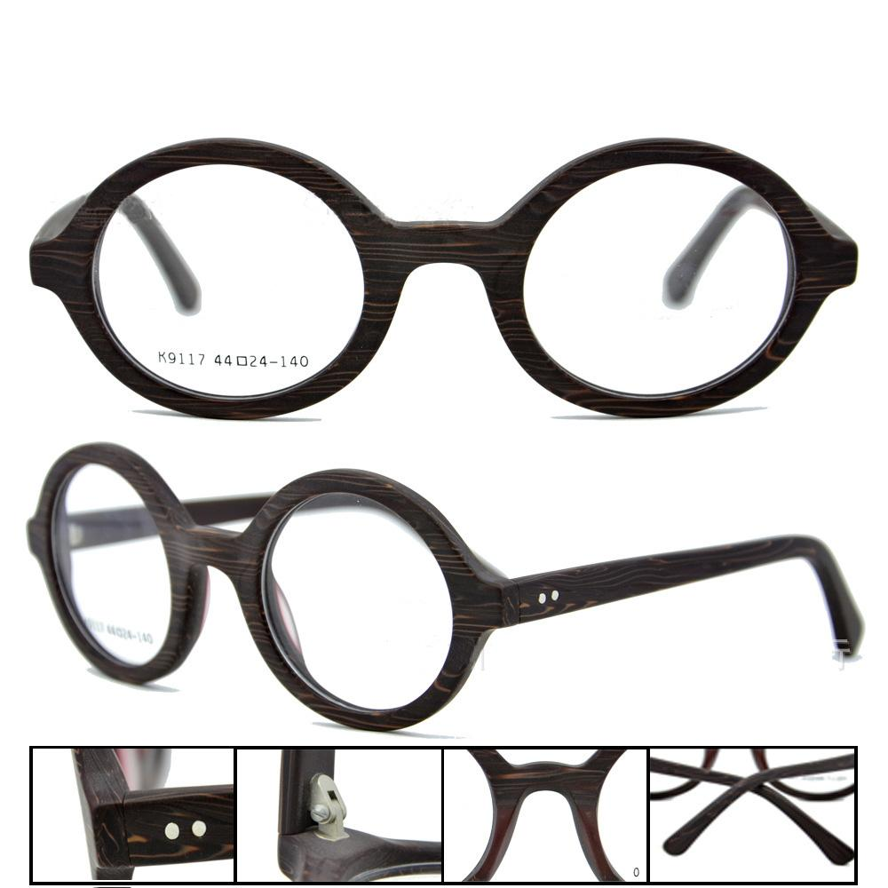 8a99b67117 Vintage Round Eyeglasses Frames Men Women Handmade Optical Eyewear ...