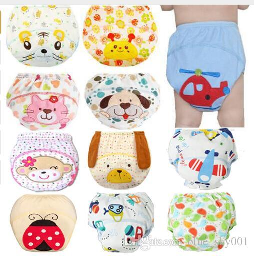 1Pcs Cute Baby Diapers Reusable Nappies Cloth Diaper Washable Infants Children Baby Cotton Training Pants Panties Nappy Changing baby towel