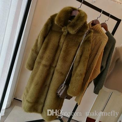 Back To Search Resultswomen's Clothing Jackets & Coats 2019 New Style High-end Fashion Women Faux Fur Coat S71