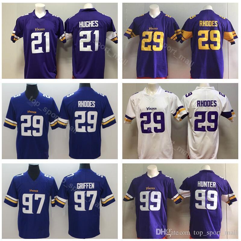 new style a05be 495ea Minnesota Vikings Football 29 Xavier Rhodes Jersey Men 97 Everson Griffen  99 Danielle Hunter 21 Mike Hughes Purple White Vapor Untouchable