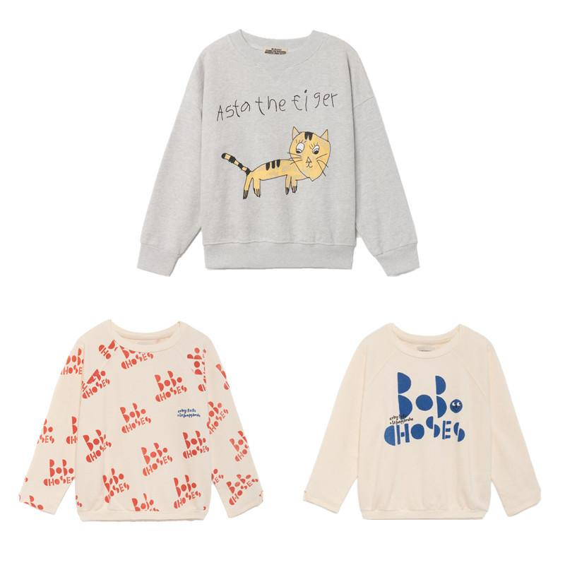 2a66ccc4d 2019 Baby T Shirts Bobo Choses Kids Boys Long Sleeve Tops Letter Cat  Pattern Sweatshirt Girls Cotton Tshirt 2019 Autumn Winter New From  Usefully17, ...