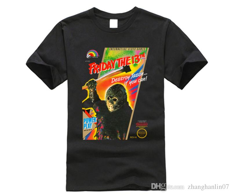 Jason Voorhees 8 Bit Videospiel Box Art Cover T Shirt