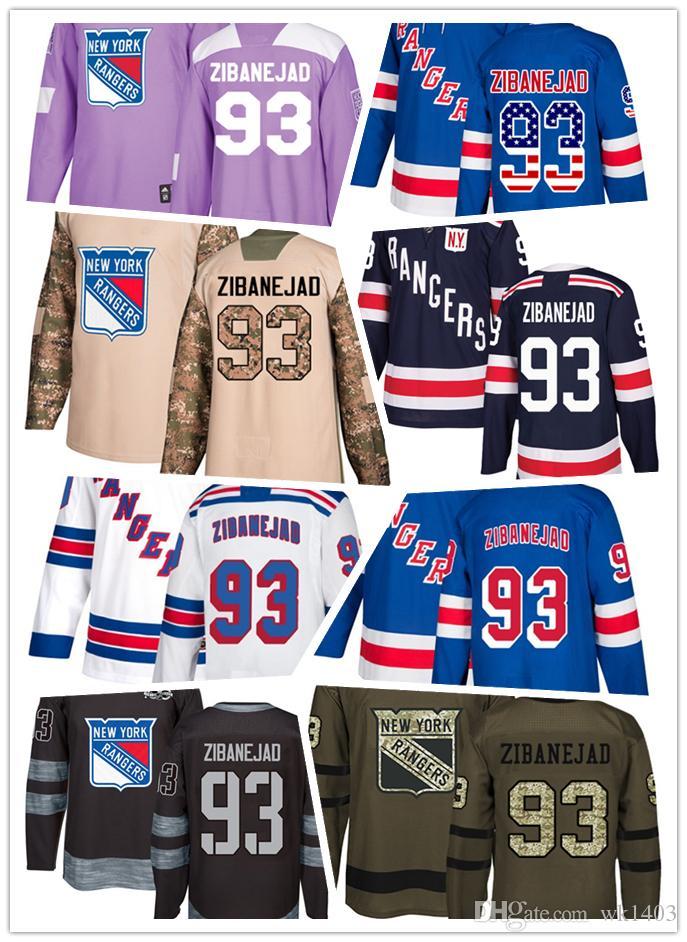 58c7eda6bb4 ... purchase 2019 new york ranger jerseys 93 mika zibanejad jersey hockey  men women youth white navy ...