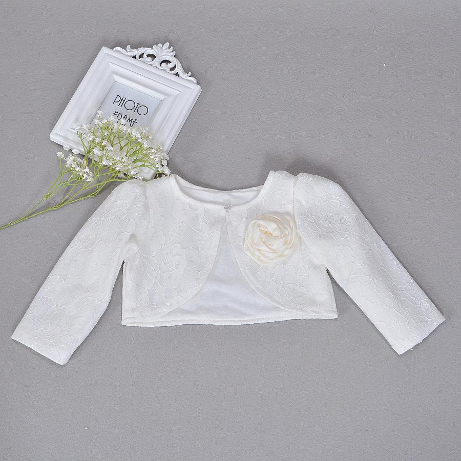 85cd1af0f Newbron Children Dress Shawl Ivory Coat Girls Long Sleeved Lace Baby ...