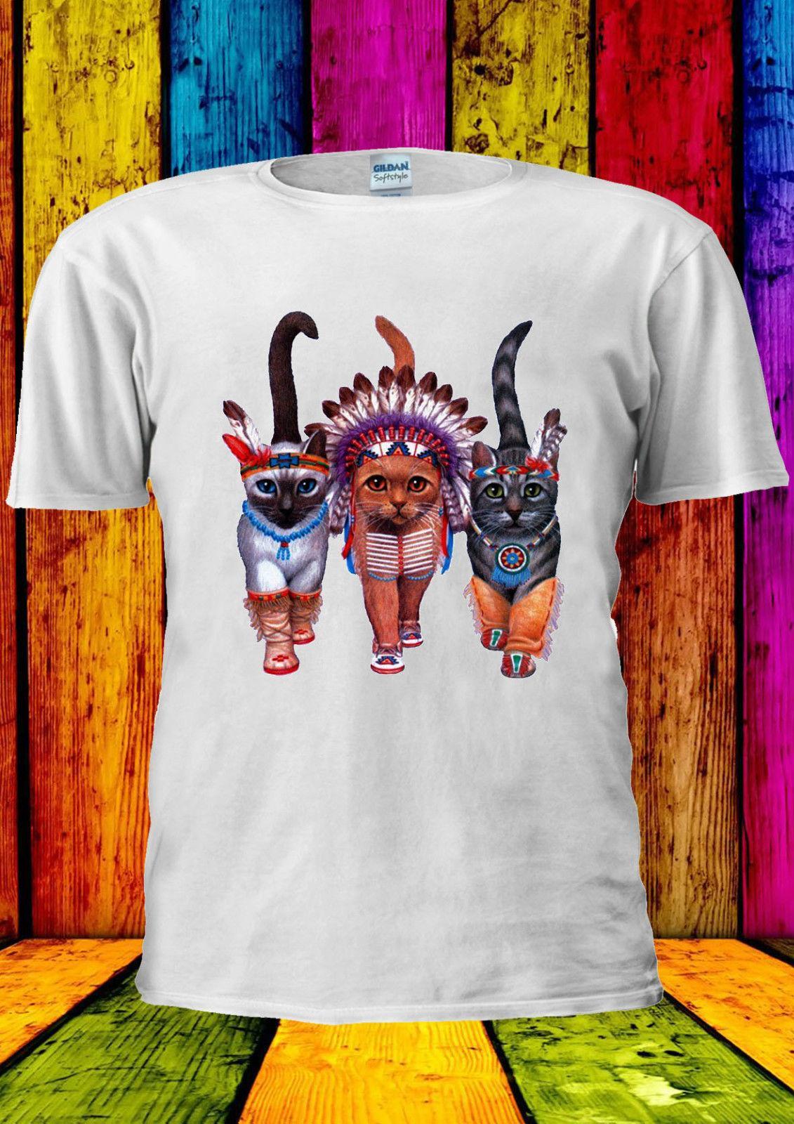 3e853c93a Mob of Cats Indian Funny Novelty T-shirt Vest Tank Top Men Women ...