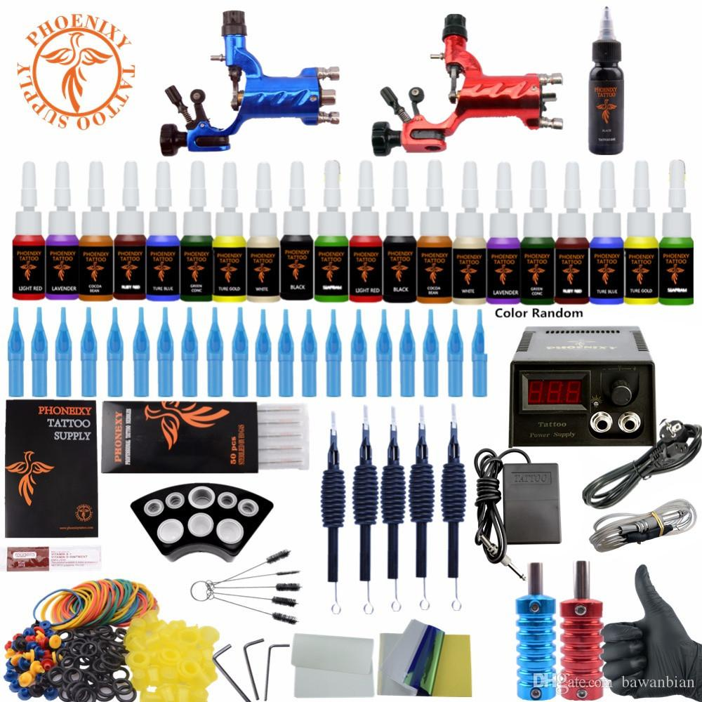 Beginner Tattoo Starter Kits Complete Rotary Tattoo Machines Guns ...
