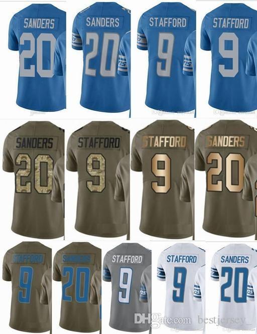 Cheap Lions DETROIT  9 Matthew Stafford  20 Barry Sanders Men Women Youth  Vapor Untouchable 2017 Salute to Service Custom Football Jersey 6a226f77c