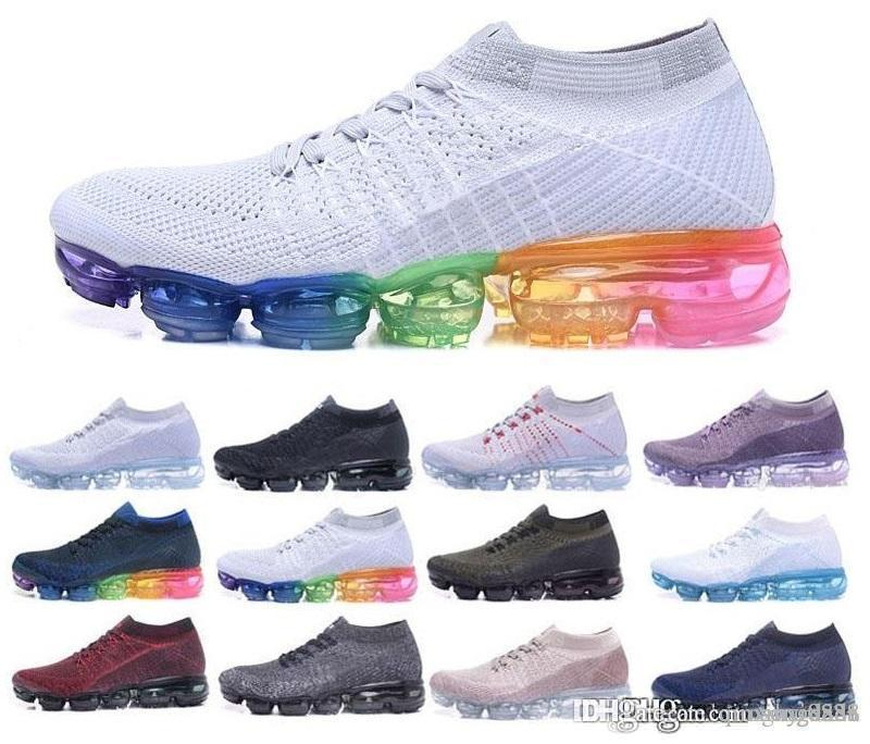 f3088e3e0dd2c6 2018 New Casual Shoes Air Cushion Trainers Men Shoes Black White Sport Shock  Women Jogging Walking Hiking Athletic Outdoor Hot Sneakers Skechers Shoes  Mens ...