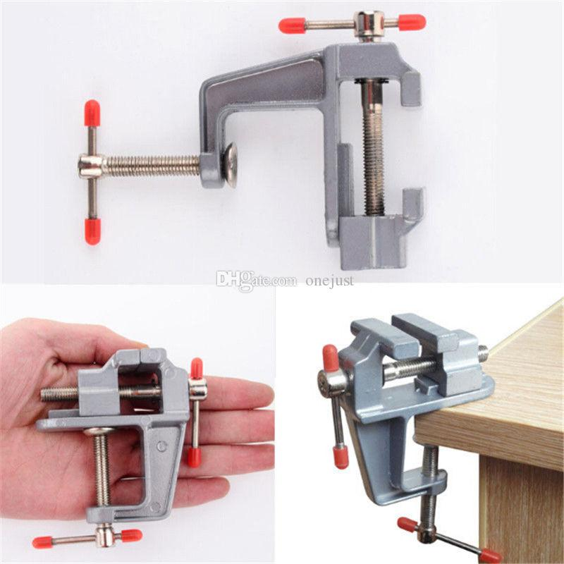 New Arrival 3.5 Inch Aluminum Small Jewelers Hobby Clamp On Table Bench Vise Mini Tool Vice B00594