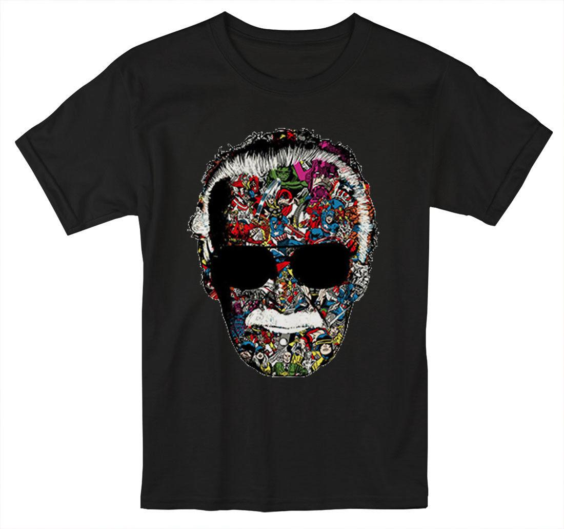 fab51495 Stan Lee Man Of Many Faces Excelsior Stan The Man Father Marvel T Shirt S  5XLFunny Unisex Top Shirts Print Funny T Shirt Prints From Dappachappy, ...
