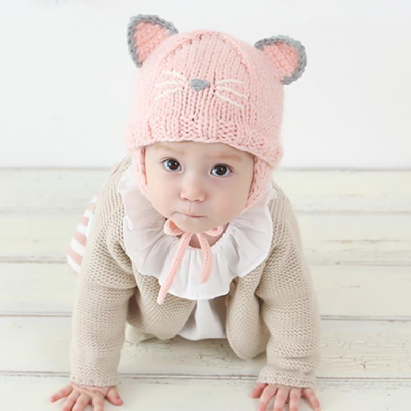 2019 Fashion Infant Baby Girls Hat Caps Kids Autumn Winter Soft Warm Hats  Lovely Cat Knitted Beanie Cap Newborn Boy Girl Photo Props From Kareem11 9e915f7b916