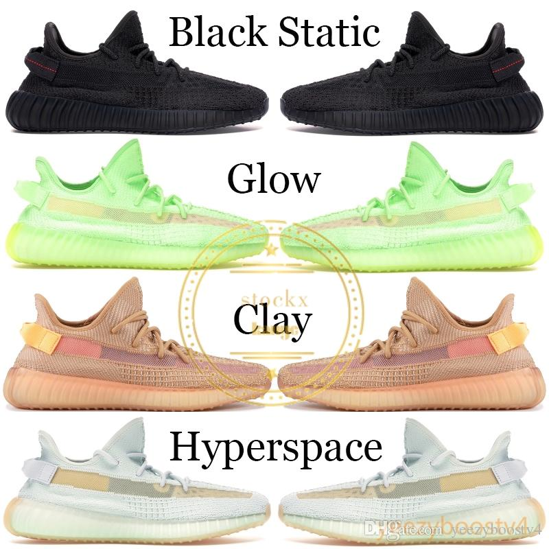 2019 Black Reflective Kanye West Men Designer Shoes Mens Womens Cream White True Form Sports Shoes Running Sneaker With Box 5-13