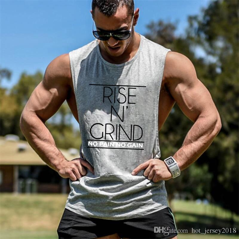 3cd292107062 2019 Muscleguys Bodybuilding Gyms Tank Top Mens Loose Cotton Fitness  Sleeveless Shirt Open Side Clothing Stringer Singlet Male Vest  105816 From  ...