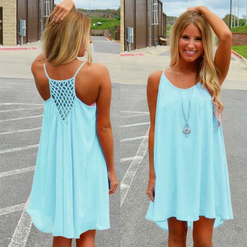 0134b7153ff8 Vestido de playa de las mujeres Fluorescencia Vestido de verano Mujer Gasa  Voile Vestido de mujer Estilo de verano Ropa de mujer Tallas grandes ropa  ...