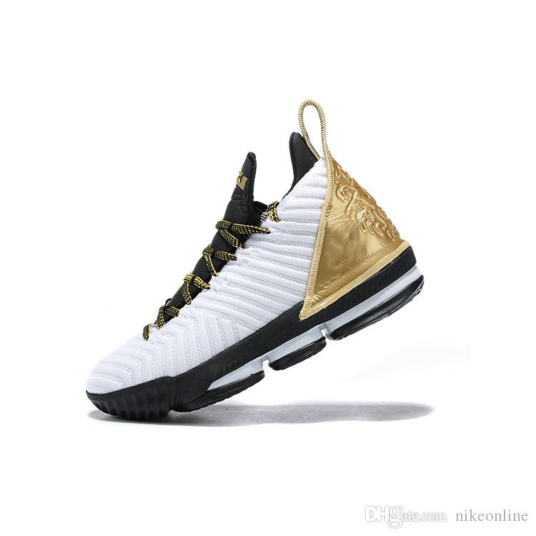 77c95b8a4916 2019 New Mens Lebron 16 Basketball Shoes BHM White Gold Black Watch MPLS  Wolf Grey Equality Youth Kids Lebrons XVI Sneakers Tennis With Box From  Nikeonline